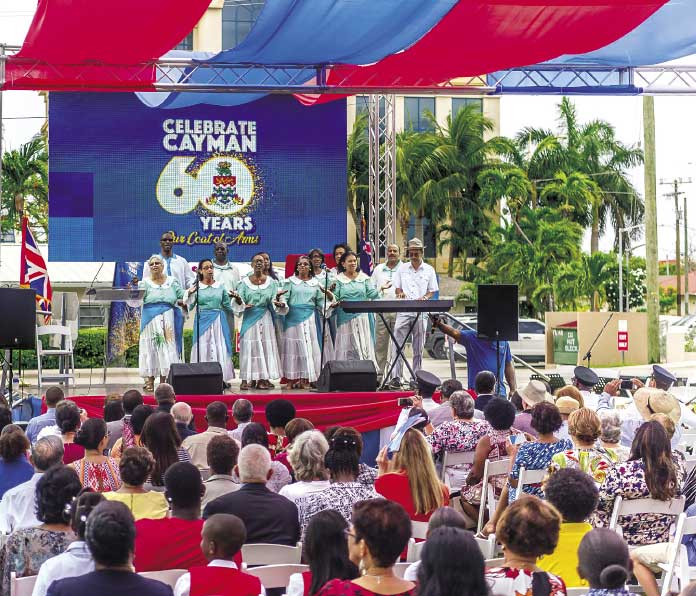 The Cayman Islands Folk Singers perform at a Celebrate Cayman event.