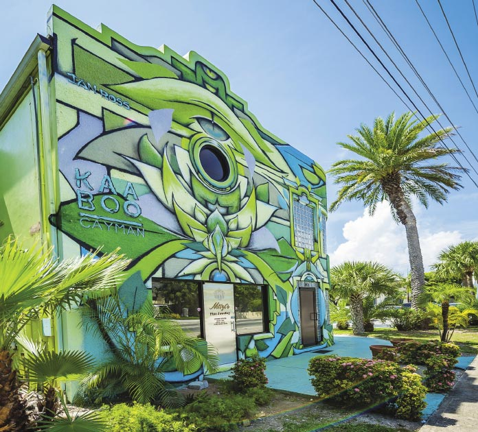 Kaaboo building with mural