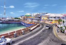 A sunny view of downtown George Town, Grand Cayman.