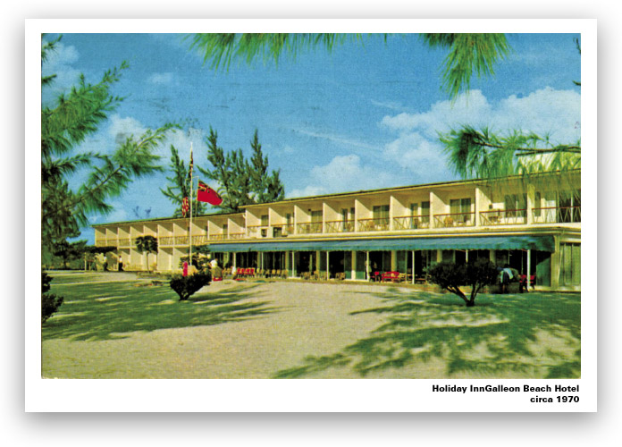 Old Galleon Beach Hotel postcard